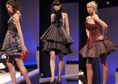 short dresses on model catwalk runway show